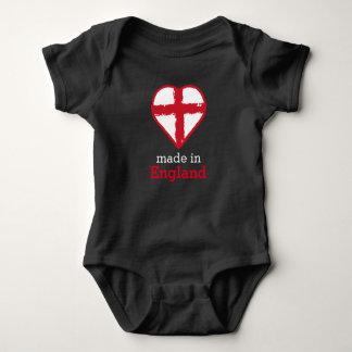 Made in England, Heart flag Saint George Cross Baby Bodysuit