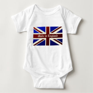 Made in England Metallic Union Jack Flag Baby Bodysuit