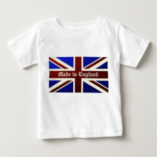Made in England Metallic Union Jack Flag Baby T-Shirt