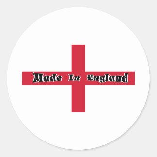 Made In England Round Sticker