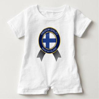 Made in Finland, Finnish Flag Baby Bodysuit