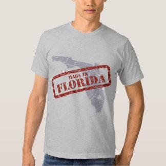 Made in Florida Grunge Map Grey T-shirt