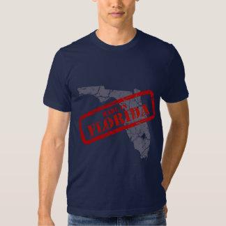 Made in Florida Grunge Map Navy Blue T-shirt