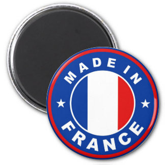 made in france country flag label round stamp 6 cm round magnet