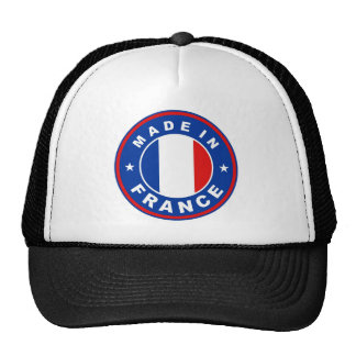 made in france country flag label round stamp hat