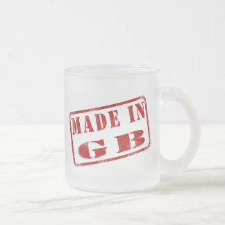 Made in GB Frosted Glass Mug