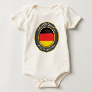 Made in Germany Flag, German Colors Seal Baby Bodysuit