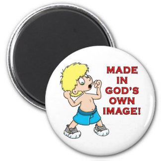 Made in God s Image Refrigerator Magnet