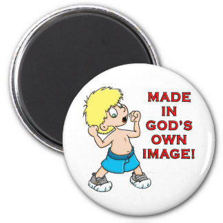 Made in God's Image 6 Cm Round Magnet