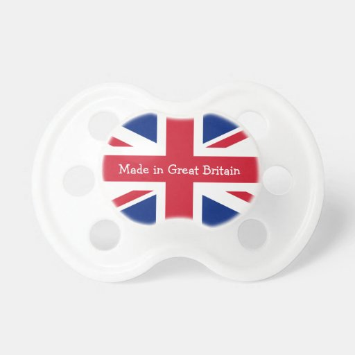 Made in Great Britain-Union Jack Flag Pacifier