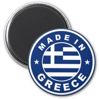 made in greece country flag label round stamp 6 cm round magnet