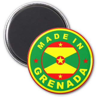 made in grenada country flag product label round 6 cm round magnet
