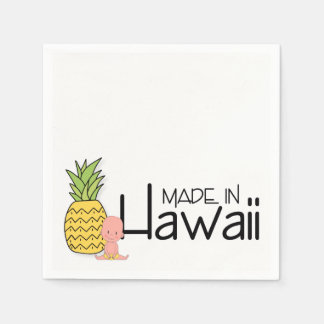 Made in Hawaii Baby Shower Disposable Napkins