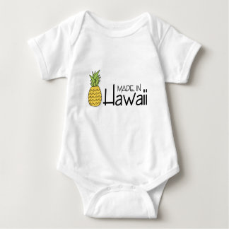 Made in Hawaii With Pineapple Baby Bodysuit