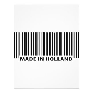 made in holland barcode icon 21.5 cm x 28 cm flyer