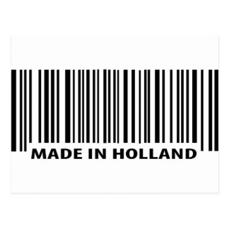 made in holland barcode icon post card