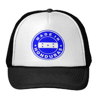 made in honduras country flag product label round cap
