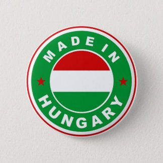 made in hungary country flag label round stamp 6 cm round badge