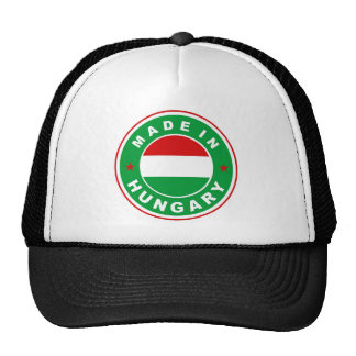 made in hungary country flag label round stamp mesh hats