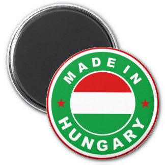 made in hungary country flag label round stamp magnet