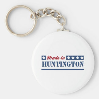 Made in Huntington Basic Round Button Key Ring
