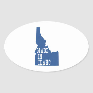 Made in Idaho Oval Sticker