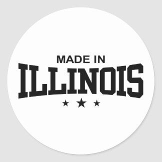 Made in Illinois Round Stickers
