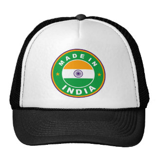 made in india country flag label round stamp cap