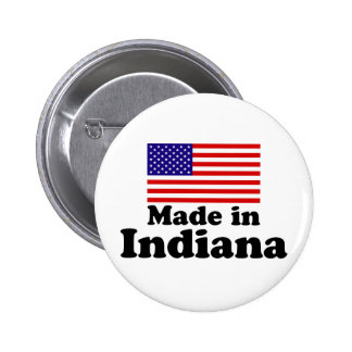 Made in Indiana 6 Cm Round Badge