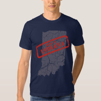 Made in Indiana Grunge Navy Blue T-shirt