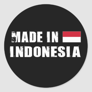 Made in Indonesia Classic Round Sticker