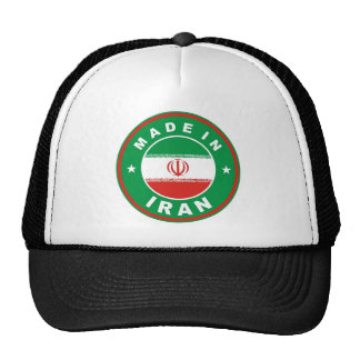 made in iran country flag label round stamp cap