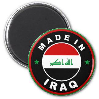 made in iraq country flag label round stamp magnet