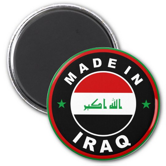 made in iraq country flag label round stamp