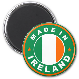 made in ireland country flag product label round magnet