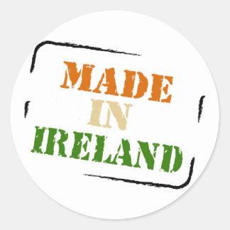 Made in Ireland Round Stickers