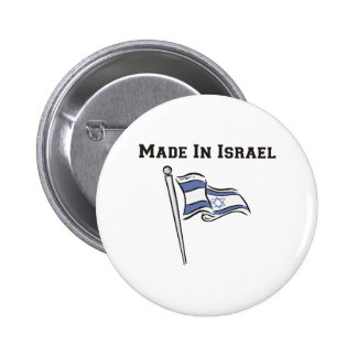 Made In Israel 6 Cm Round Badge