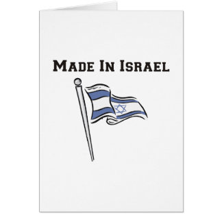 Made In Israel Greeting Card