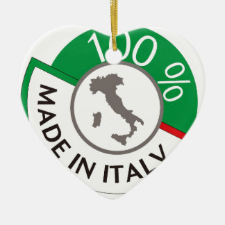 MADE IN ITALY 100% CERAMIC HEART DECORATION