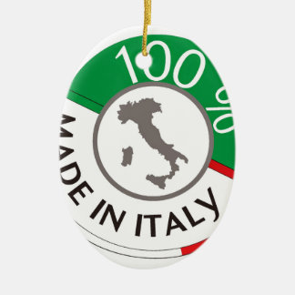 MADE IN ITALY 100% CERAMIC OVAL DECORATION