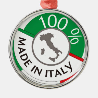 MADE IN ITALY 100% Silver-Colored ROUND DECORATION