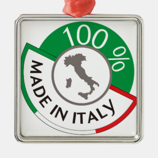 MADE IN ITALY 100% Silver-Colored SQUARE DECORATION