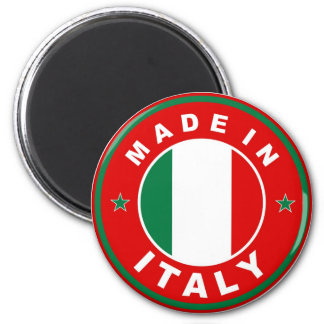 made in italy country flag product label round 6 cm round magnet