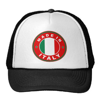 made in italy country flag product label round hat