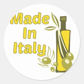 Made In Italy Round Sticker