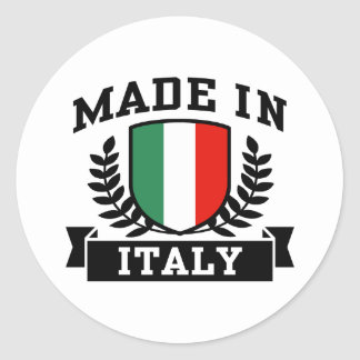 Made in Italy Round Sticker