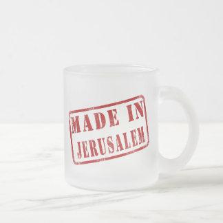 Made in Jerusalem Frosted Glass Mug