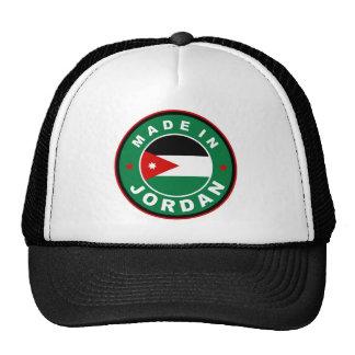 made in jordan country flag label round stamp cap