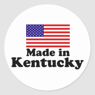 Made in Kentucky Classic Round Sticker