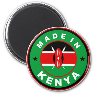 made in kenya country flag product label round 6 cm round magnet